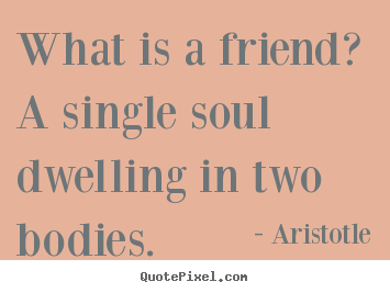 Make custom picture sayings about friendship - What is a friend? a single soul dwelling in two bodies.