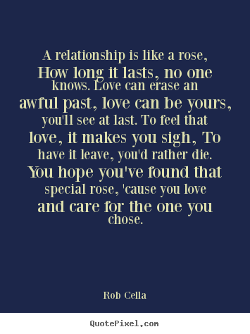 Create picture quotes about friendship - A relationship is like a rose, how long it..