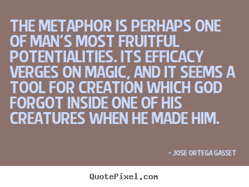 Create picture quotes about inspirational - The metaphor is perhaps one of man's most fruitful potentialities...