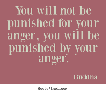 Buddha picture quotes - You will not be punished for your anger, you will be.. - Inspirational quote