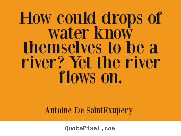 Life quotes - How could drops of water know themselves to be a river? yet..
