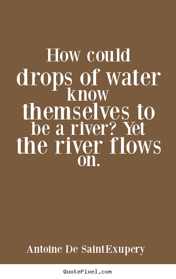 Life quotes - How could drops of water know themselves to be..