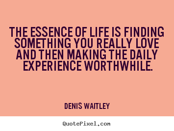 Diy poster quotes about life - The essence of life is finding something you..