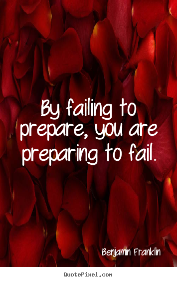 Quote about motivational - By failing to prepare, you are preparing to fail.