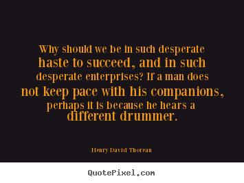 Success quotes - Why should we be in such desperate haste to succeed, and..