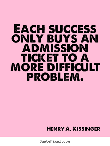 Design custom picture quotes about success - Each success only buys an admission ticket..